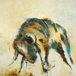 animal art, lodge art, bull, farm, cow