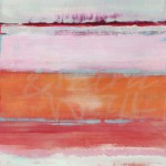 jill martin, contemporary abstract, seattle art, pink, orange