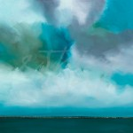 transitional landscape, seascape, blue, aqua, liz jardine
