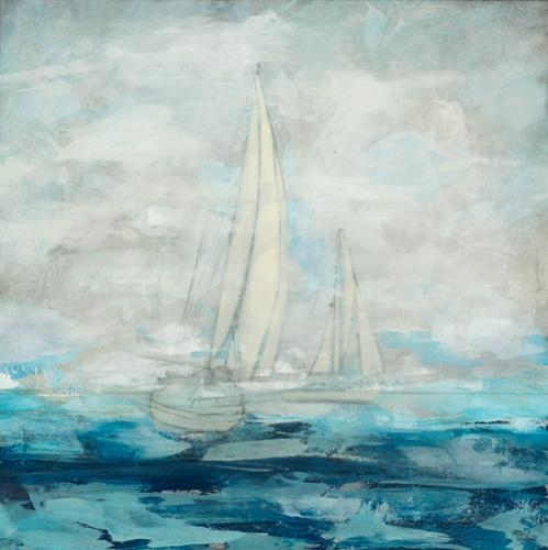 transitional seascape, sailing, nautical, seattle art