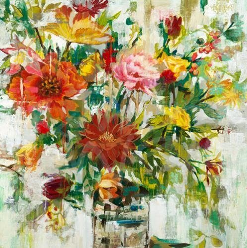 liz jardine, floral, contemporary art, seattle art, spring, flowers, still life
