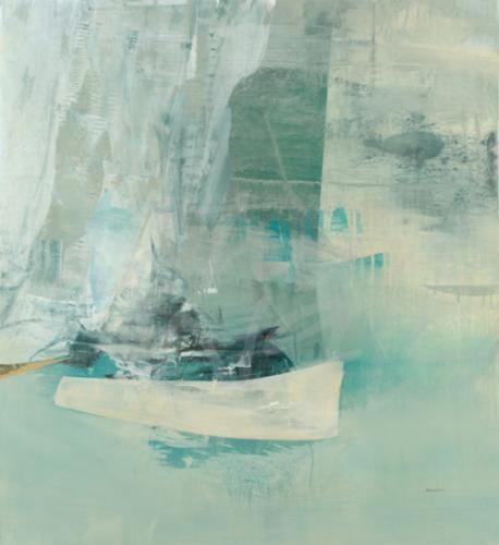 transitional coastal abstract sailing sailboat ocean sea seattle art