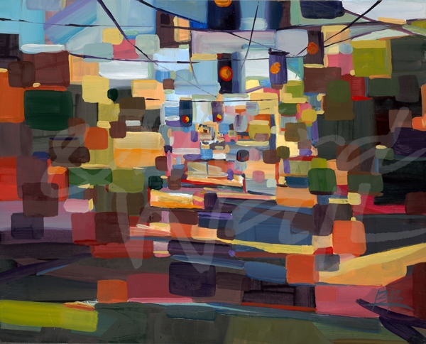 Brooke Borcheding, seattle art, seattle, urban, transitional landscape, cityscape