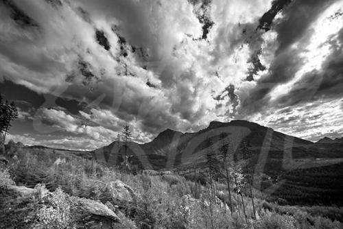 photography black and white mountains landscape